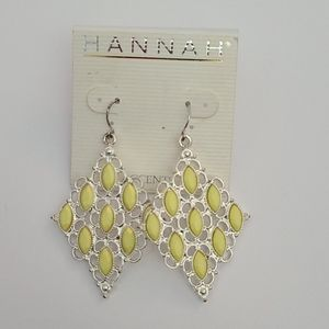 Womens yellow and silver earrings